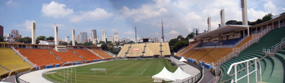 Vista Panorâmica do Estádio do Pacaembu